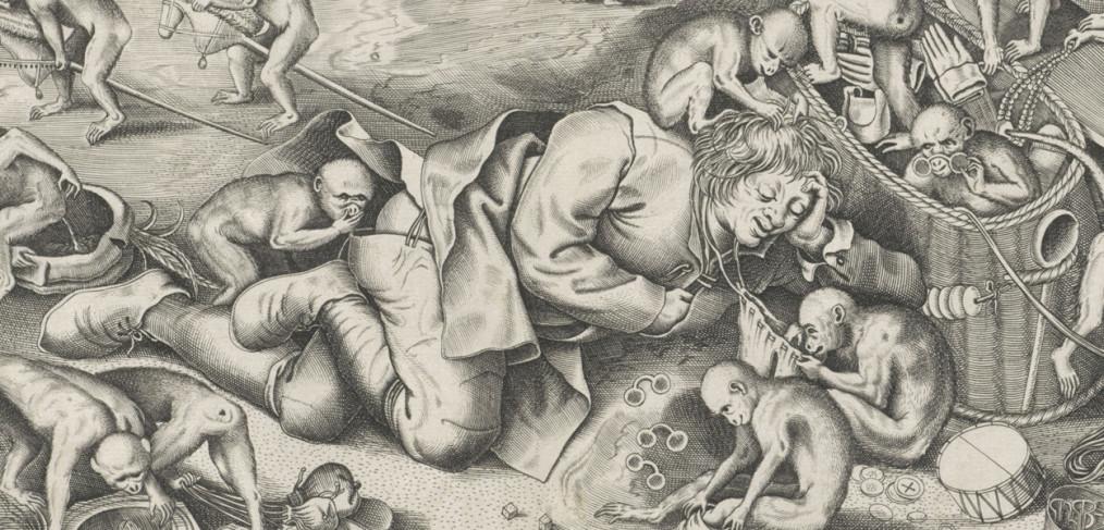 Marskramer door de apen beroofd